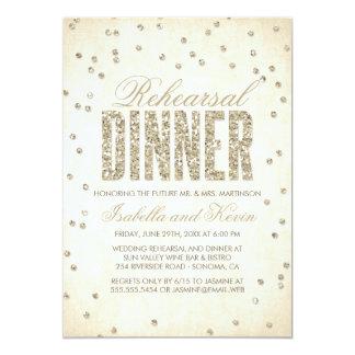 Invitación de la cena del ensayo del confeti de la invitación 12,7 x 17,8 cm