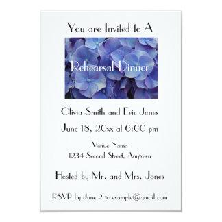 Invitación de la cena del ensayo del Hydrangea