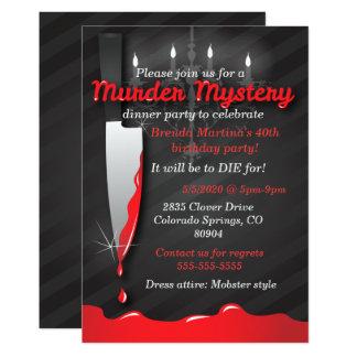 Invitación de la cena del misterioso asesinato