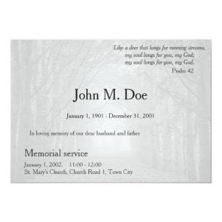 Invitación de la ceremonia conmemorativa o del