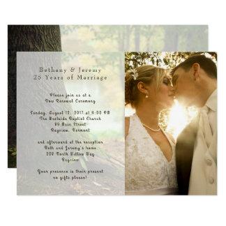 Invitación de la ceremonia del aniversario de boda