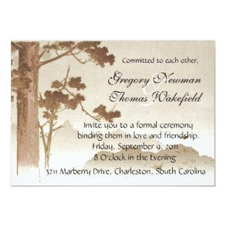 Invitación de la ceremonia del compromiso
