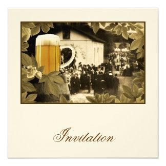 Invitación de la cerveza del vintage