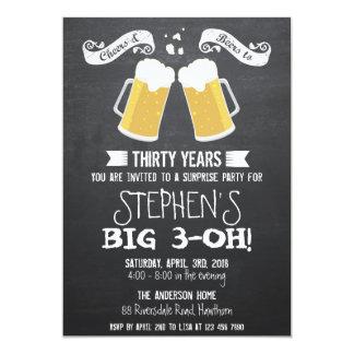 invitación de la cerveza/invitación de la cerveza invitación 12,7 x 17,8 cm