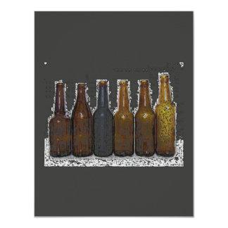 Invitación de la cerveza - la cerveza invita/las invitación 10,8 x 13,9 cm