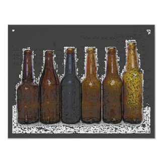 Invitación de la cerveza - las invitación 10,8 x 13,9 cm