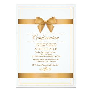 Invitación de la cinta del oro