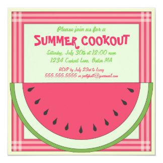 Invitación de la comida campestre del Cookout de Invitación 13,3 Cm X 13,3cm