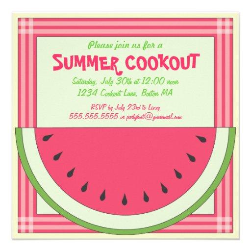 Invitación de la comida campestre del Cookout de l