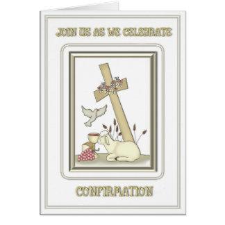 Invitación de la confirmación felicitaciones