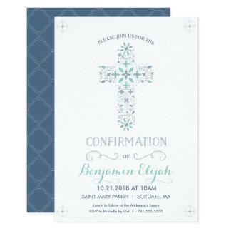 Invitación de la confirmación - invite con la cruz