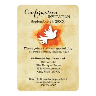 Invitación de la confirmación, paloma