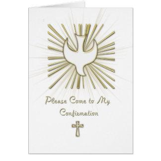 Invitación de la confirmación tarjetas