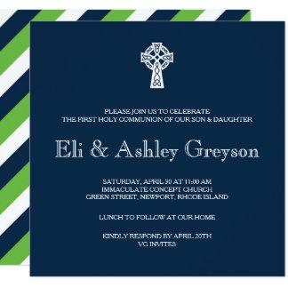 Invitación de la cruz céltica - primera comunión