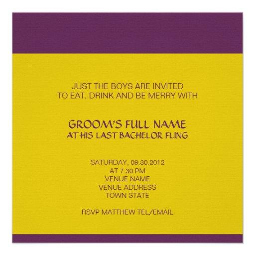 Invitación de la despedida de soltero de Ganesh