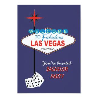 Invitación de la despedida de soltero de Las Vegas Invitación 12,7 X 17,8 Cm