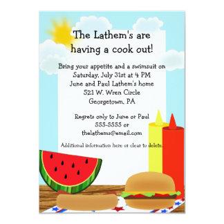 Invitación de la diversión del Cookout