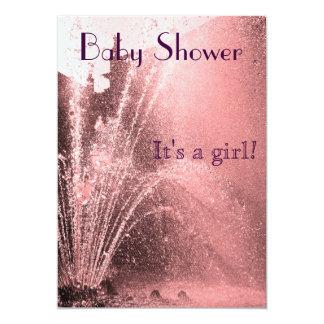 Invitación de la ducha de la niña