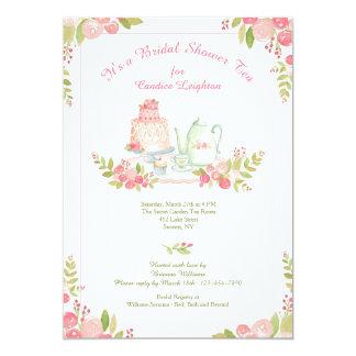 Invitación de la ducha de la recepción del té