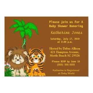 Invitación de la ducha de la selva de BabyAnimals