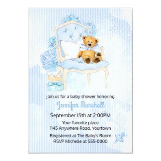 Invitación de la ducha del bebé del oso de peluche