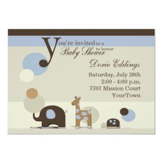 Invitación de la ducha del bebé del peluche invitación 12,7 x 17,8 cm