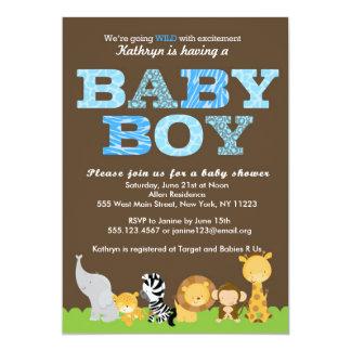 Invitación de la ducha del bebé del safari