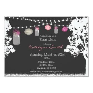 Invitación de la ducha del boda del tarro de la invitación 12,7 x 17,8 cm