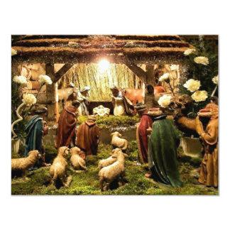 invitación de la escena de la natividad