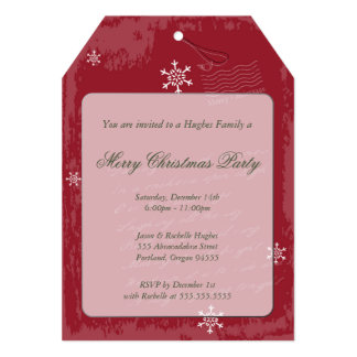 Invitación de la etiqueta del navidad