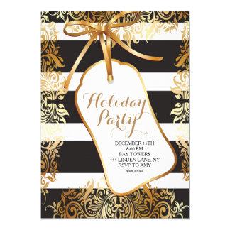 Invitación de la etiqueta del regalo del oro de la