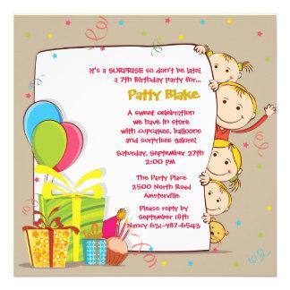 Invitación de la familia del cumpleaños
