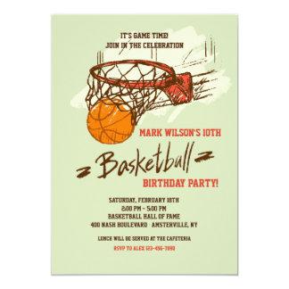 Invitación de la fan de baloncesto