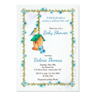 Invitación de la felicidad del Bluebird