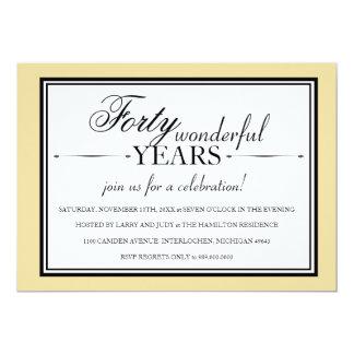 Invitación de la fiesta de aniversario de 40 años