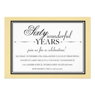 Invitación de la fiesta de aniversario de 60 años