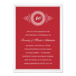 Invitación de la fiesta de aniversario del