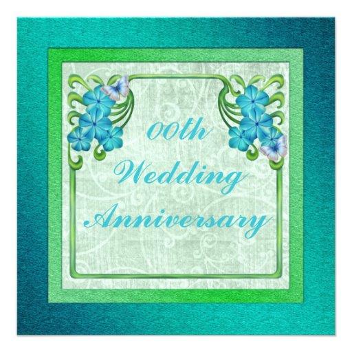 Invitación de la fiesta de aniversario del boda