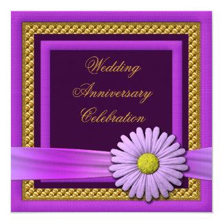 Invitación de la fiesta de aniversario del boda de