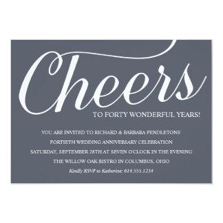 Invitación de la fiesta de aniversario del boda de invitación 12,7 x 17,8 cm