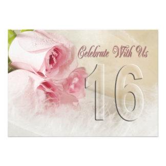 Invitación de la fiesta de aniversario por 16 años