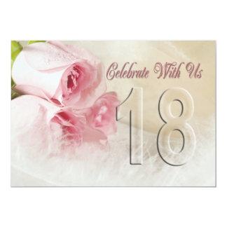 Invitación de la fiesta de aniversario por 18 años