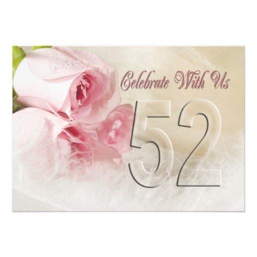 Invitación de la fiesta de aniversario por 52 años