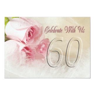 Invitación de la fiesta de aniversario por 60 años