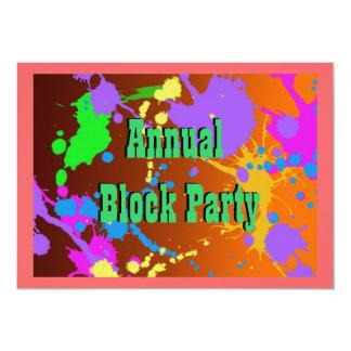Invitación de la fiesta de barrio de la
