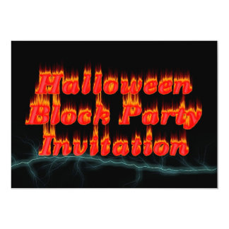 Invitación de la fiesta de barrio del feliz