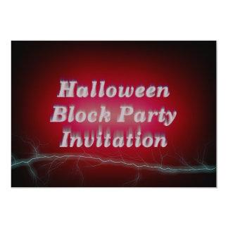 Invitación de la fiesta de barrio del feliz invitación 12,7 x 17,8 cm