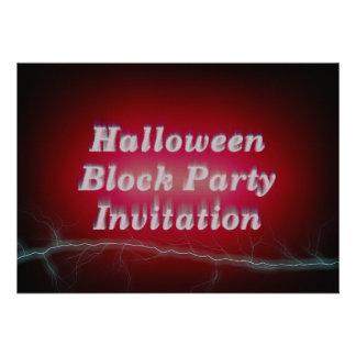 Invitación de la fiesta de barrio del feliz Hallow