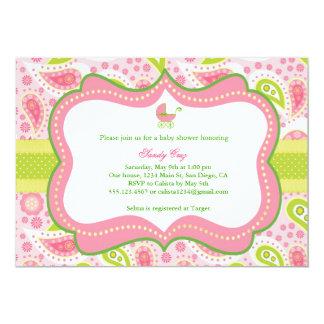 Invitación de la fiesta de bienvenida al bebé invitación 12,7 x 17,8 cm