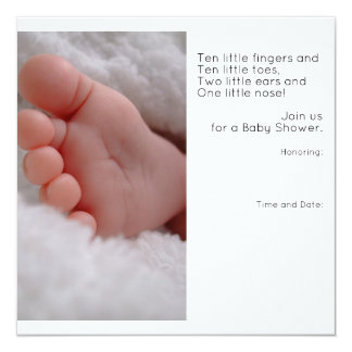 Invitación de la fiesta de bienvenida al bebé
